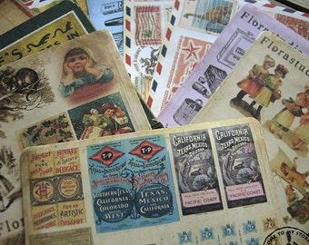 10 Sheets Korea Vintage Paper Deco Sticker Stamp