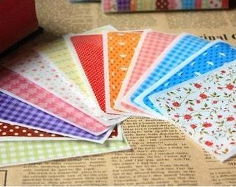 12 Sheets Korea Pretty Sticker Set - Deco Translucent Sticker Set