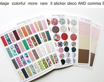 6 Sheets Korea Pretty Sticker Set - Colorful Paper Sticker Set-Paper Deco Vintage Sticker