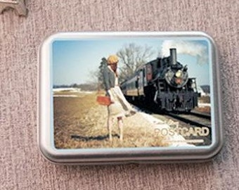Korea DIY iron boxes world image photo stickers and cards---meaning of travel