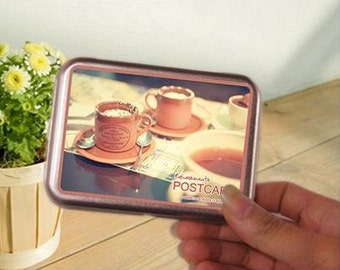 Korea DIY iron boxes world image photo stickers and cards---Afternoon tea