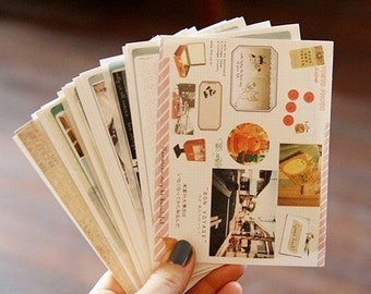 14 Sheets Korea Pretty Sticker Set - Deco Sticker Set - Road and Tokyo