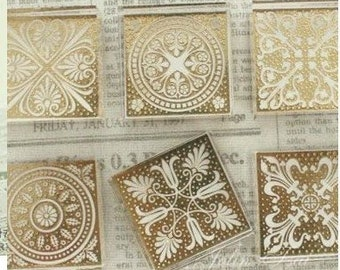 Korea DIY Crystal Square Stamp-Pattern 6 Kinds Can Be Chosen 1 Pcs