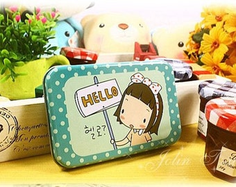 18 kinds of Korea DIY lovely Cookies girl iron boxes seal stickers -2