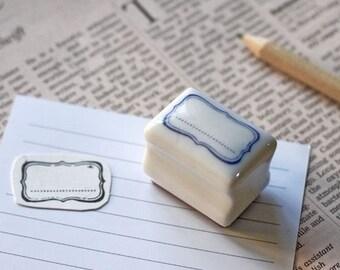 Korea DIY Ceramics Zakka Stamp Set-Label