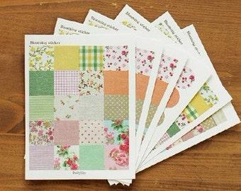 6 Sheets Korea Vintage Paper Deco Sticker Stamp