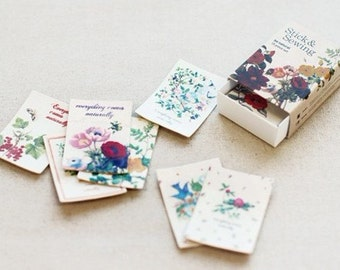 15 Sheets Korea Vintage Paper Deco Sticker Stamp Matchbox paper stickers