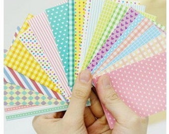 20 Sheets Korea Pretty Sticker Set - Colorful Paper Sticker Set