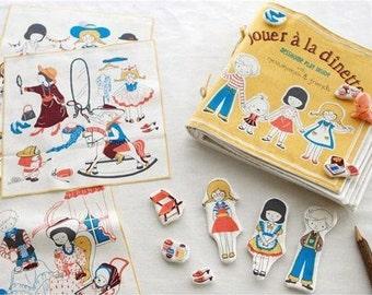 Cotton Linen Fabric Cloth -DIY Cloth Art Manual Cloth- Boys and girls   55x31Inches