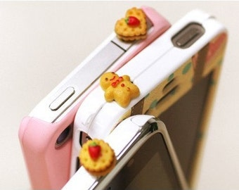 Sweet Bow Earphone Plug iPhone Cookies Earphone Plug