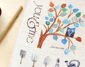 Cotton Linen Fabric Cloth -DIY Cloth Art Manual Cloth -Printing Dyeing Linen Fabric Cotton  8x 12 Inches(20x30CM)
