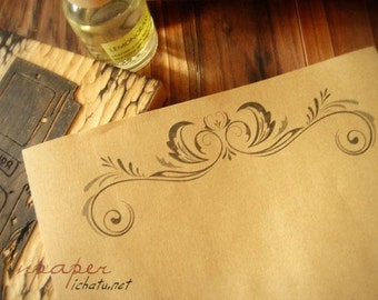 16 Sheets Kraft Paper Letter Writing Paper Sets-European lace B