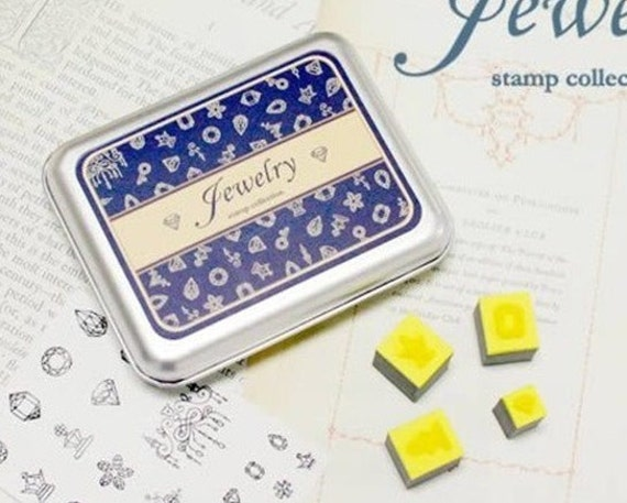16 kinds of  South Korea DIY Woodiness rubber stamp- jewelry