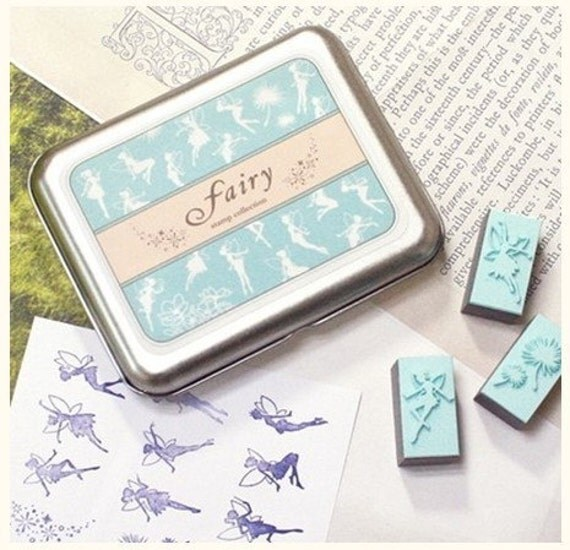 9 kinds Korea DIY Woodiness rubber stamp- fairy