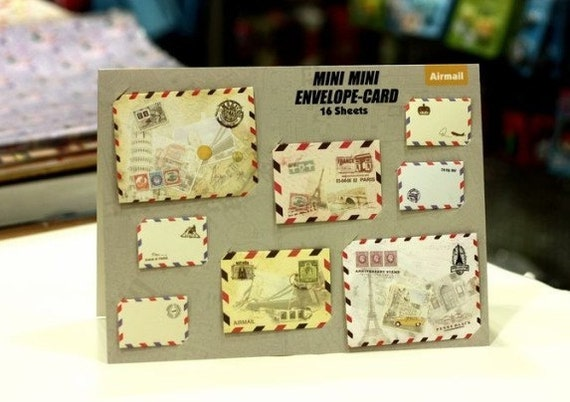 15 Sheets Korea DIY Lovely little MiNi Envelopes Sets