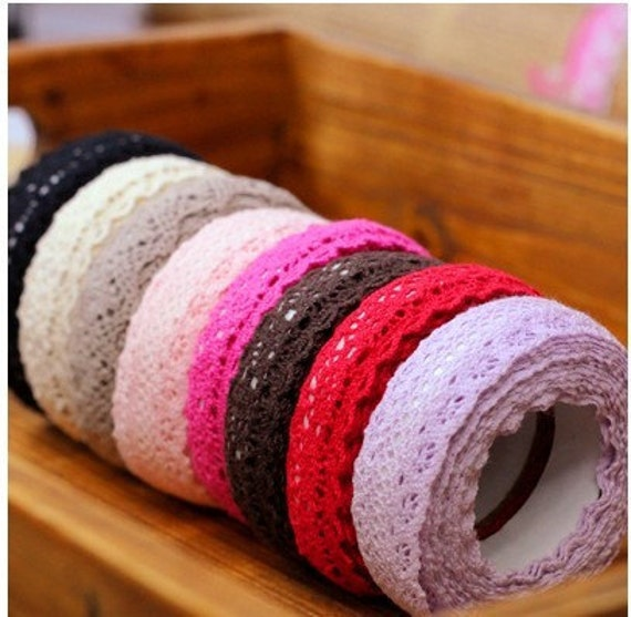 Rural wind only beautiful multi-function adornment Masking LaceTape 4 Rolls