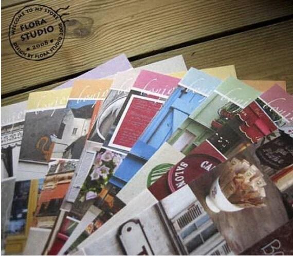10 Sheets Korea Pretty Sticker Set - Colorful Paper Sticker-Ten color Paris