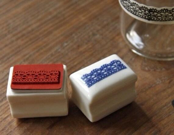 Korea DIY Ceramics Zakka Rubber Stamp Set-Lace