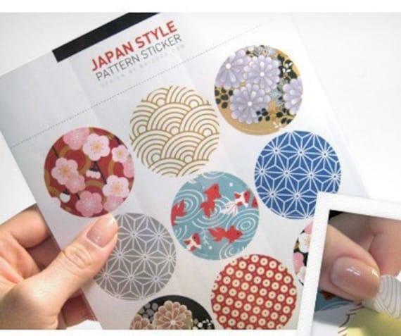 9 Pcs Vintage Paper Deco Sticker Stamp Round Shape Stickers