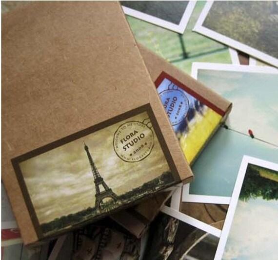 1Sets /50 kinds Korea DIY vintage cards kraft paper box I Love You the seal cards