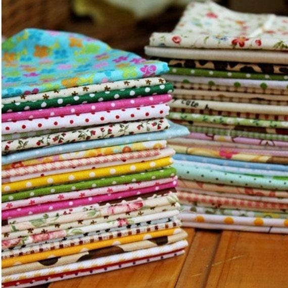 "10 Pieces Cotton Fabric Cloth -DIY Cloth Art Manual Cloth Set 6 x6Inches "" Each (15 x 15CM)"