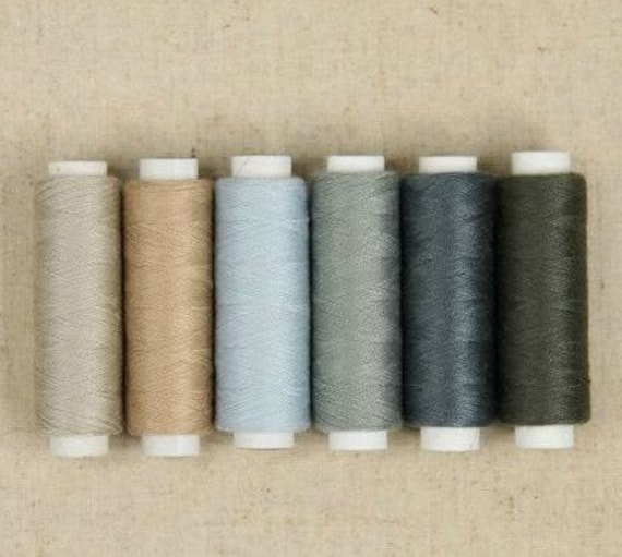 "6Pcs Superior Sewing Thread Gray Series 196 Yards "" Each"