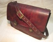 Antiqued Mahogany, Turnlock Messenger Bag