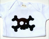 Relief Baby bodysuit for 6 month olds Very Jolly Roger -  - donated by ChoochMagooz