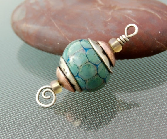 Tortoise Lampwork Bead Pendant
