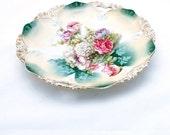 Antique Serving Plate Platter R S Prussia Ornate Floral