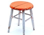 Vintage Milking Stool Chippy Paint Mad Men Colors