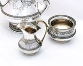 Vintage Coffee Set Silverplate Deco Design Elegant Shabby Decor