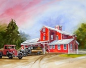 Grist Mill at Williamsville --NY-----Watercolor By Ray Lockhart