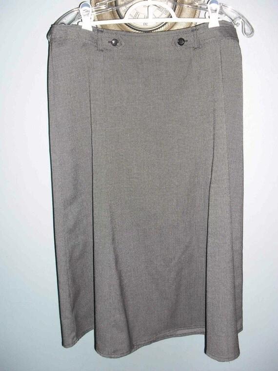 Christopher & Banks Black and Gray Texured skirt