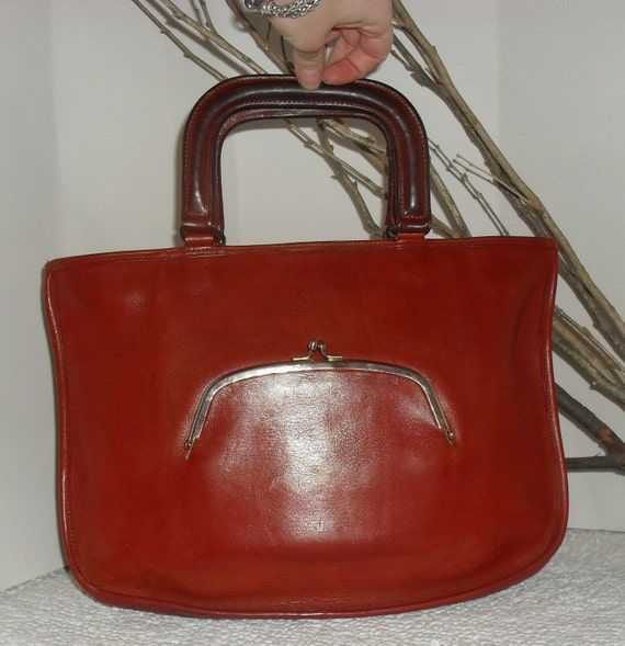 RESERVED ----Reserved For Meagen ------ANTIQUE--60S Authentic  COACH---Vintage  Coach  Leather Briefcase Bag Purse