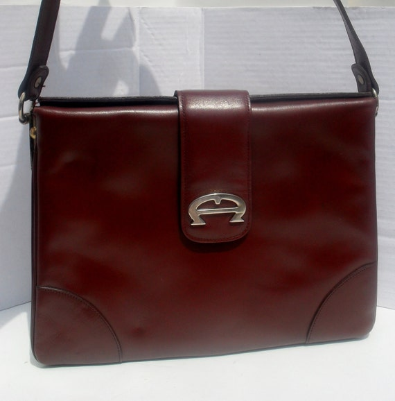 Reserved For Md13 ---Reserved  Vintage 70s ETIENNE AIGNER --Ox Blood Leather Purse---NWT ---Dead Stock