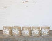Burlap Wedding Floral Candle Favors Set of Five - Rustic Charm Collection
