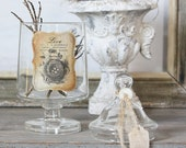 Repurposed Vintage Apothecary Jar - Rustic French Birds Nest