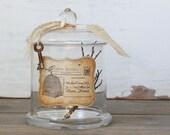 Repurposed Apothecary Jar - Rustic Birds