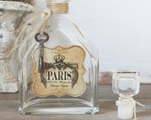 CYBER MONDAY SALE Repurposed Vintage Bottle - Rustic & French