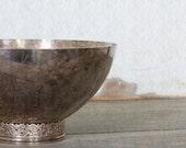 Vintage Silver Plate Pedestal Bowl Denmark