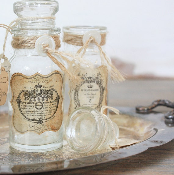 Repurposed Vintage Bottle - Rustic French No 3