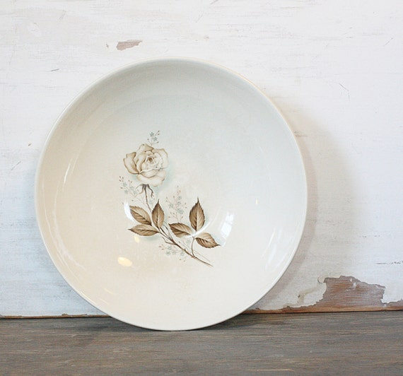 Vintage Smokey Rose Serving Bowl