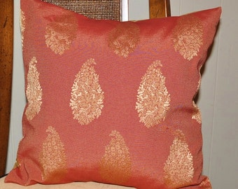 """Pillow - 16"""" Copper and Gold Sham (2 pc. Set)"""