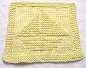 Knitting Cloth Pattern - SAILBOAT  - PDF