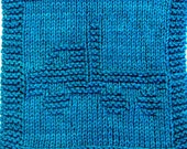 Knitting Cloth Pattern - FLATBED TRUCK - PDF