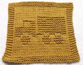 Knitting Cloth Pattern - TRUCK -  PDF