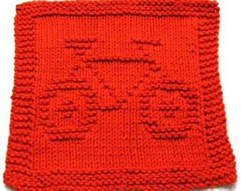 Knitting Cloth Pattern -  BIKE -  PDF