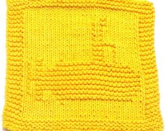 Knitting Cloth Pattern -   YELLOW SUBMARINE - PDF