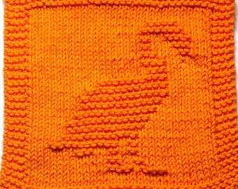 Knitting Pattern  Washcloth, Dishcloth   FLAMINGO   PDF